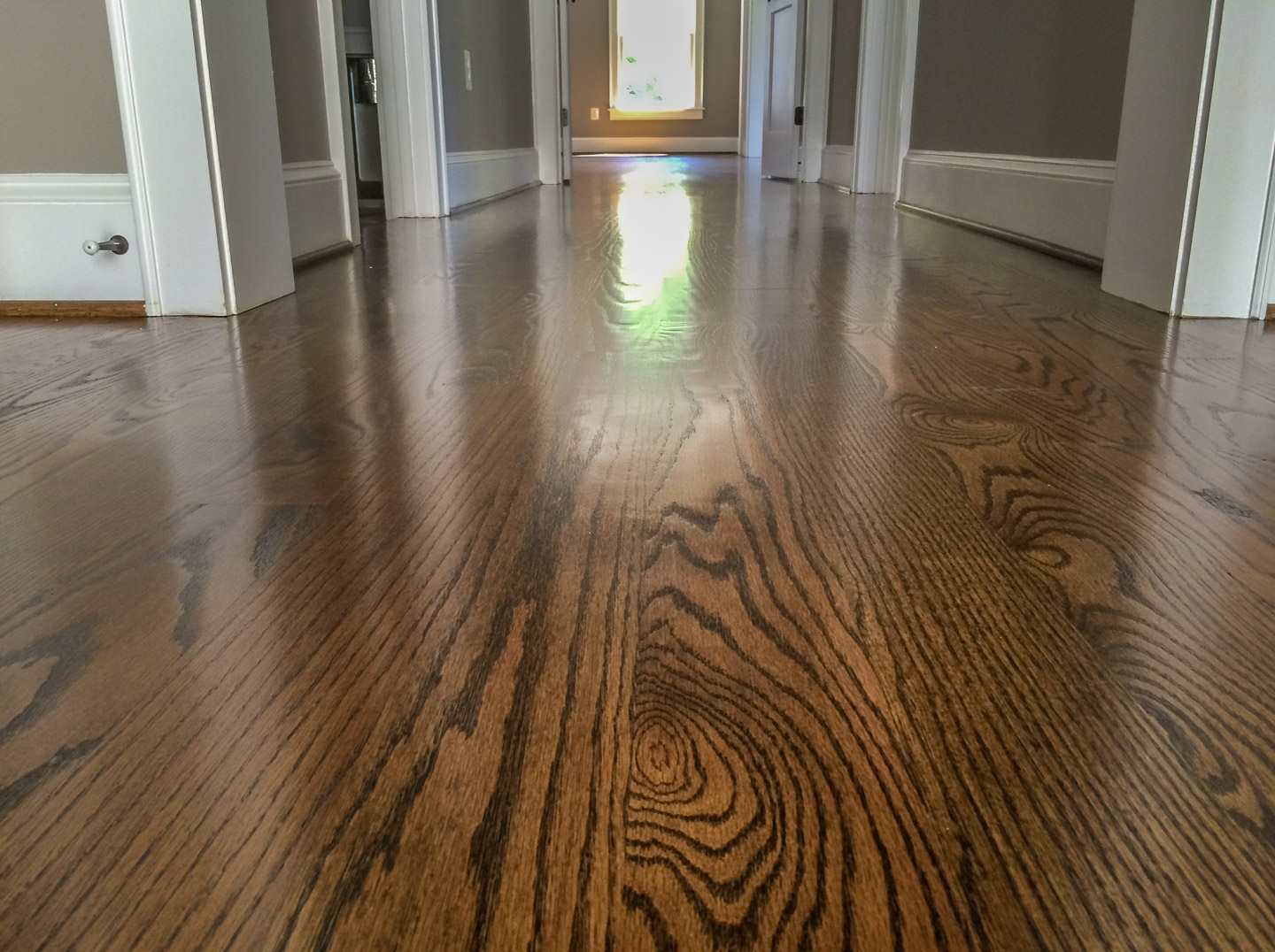 Red Oak Wide Planks With Jacobean Stain