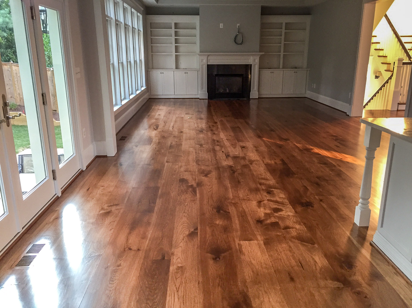 Very Hickory Wide Planks with English Chestnut Stain NB57