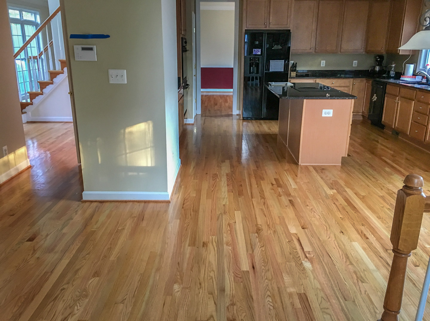Red Oak With Natural Finish